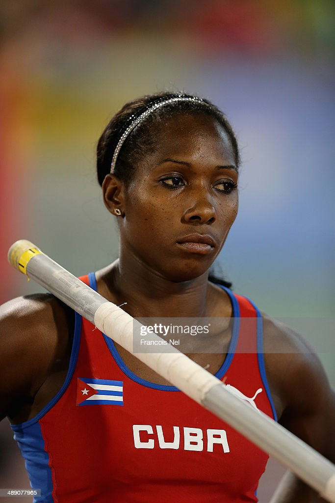 <a gi-track='captionPersonalityLinkClicked' href=/galleries/search?phrase=Yarisley+Silva&family=editorial&specificpeople=4425121 ng-click='$event.stopPropagation()'>Yarisley Silva</a> of Cuba competes in the Women's Pole Vault during the 2014 Doha IAAF Diamond League at Qatar Sports Club on May 9, 2014 in Doha, Qatar.