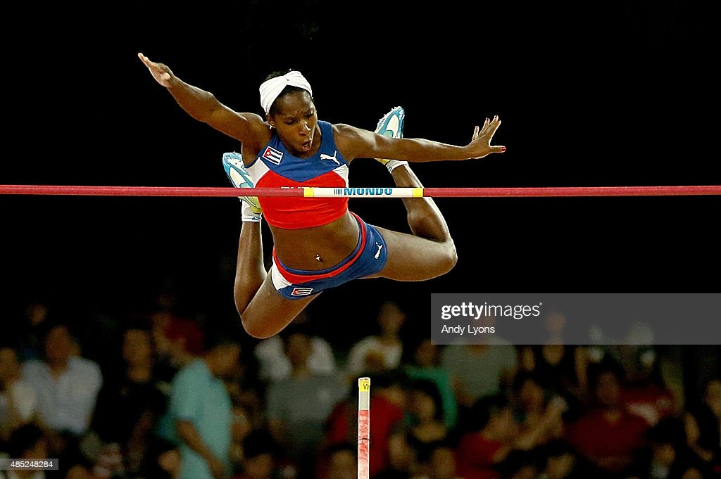 <a gi-track='captionPersonalityLinkClicked' href=/galleries/search?phrase=Yarisley+Silva&family=editorial&specificpeople=4425121 ng-click='$event.stopPropagation()'>Yarisley Silva</a> of Cuba competes in the Women's Pole Vault final during day five of the 15th IAAF World Athletics Championships Beijing 2015 at Beijing National Stadium on August 26, 2015 in Beijing, China.