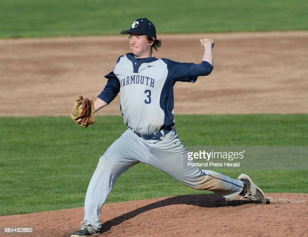 Yarmouth's Luke Waeldner pitches against Old Orchard Beach Wednesday May 17 2017