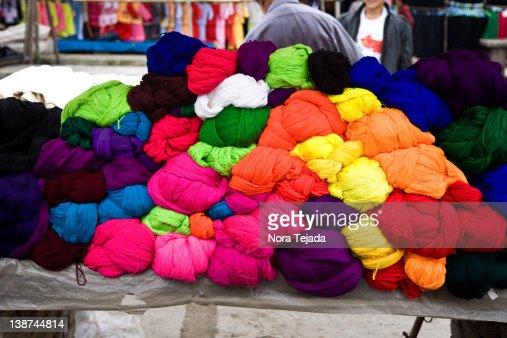 Yarn at market