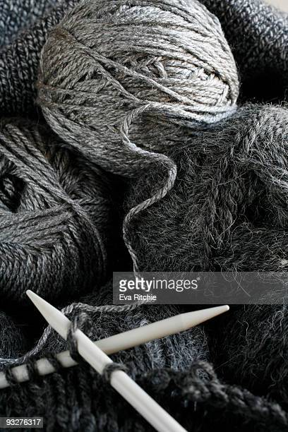 Yarn balls, close-up