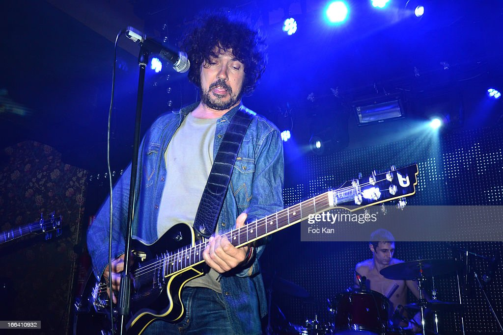 Yarol Poupaud performs during he Bus Palladium 3rd Anniversary Party at the Bus Palladium Club on April 11, 2013 in Paris, France.