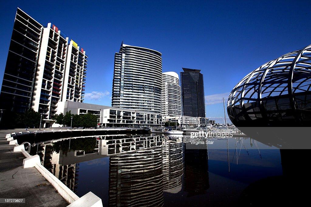 Yarra's edge residential buildings docklands