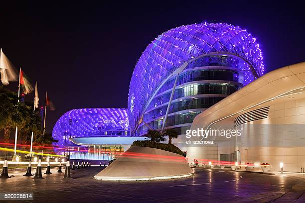 Yas Island Viceroy Hotel at night