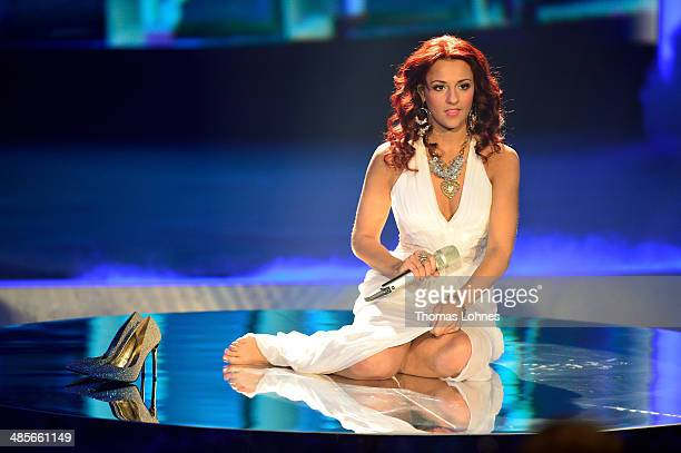 Yasemin Kocak performs at the rehearsal for the 4th 'Deutschland sucht den Superstar' show at Coloneum on April 19 2014 in Cologne Germany