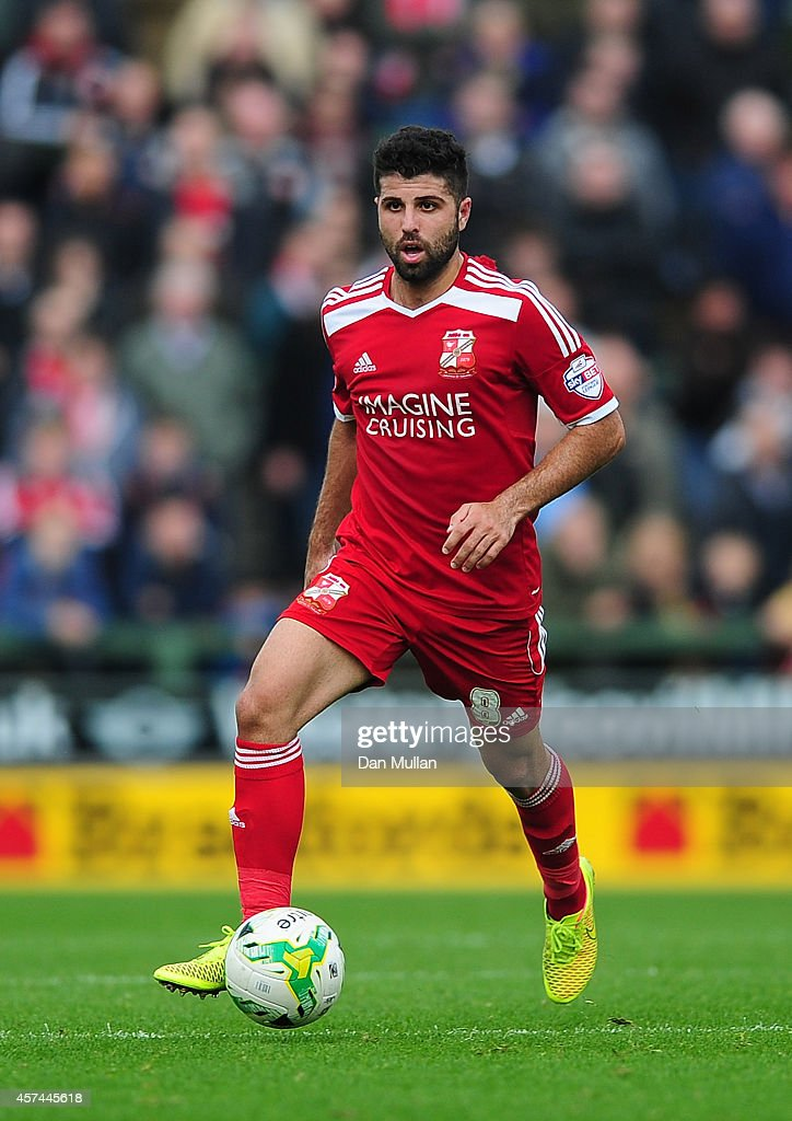 Yaser Kasim of Swindon Town in action during the Sky Bet League One match between Yeovil Town and Swindon Town at Huish Park on October 18 2014 in...