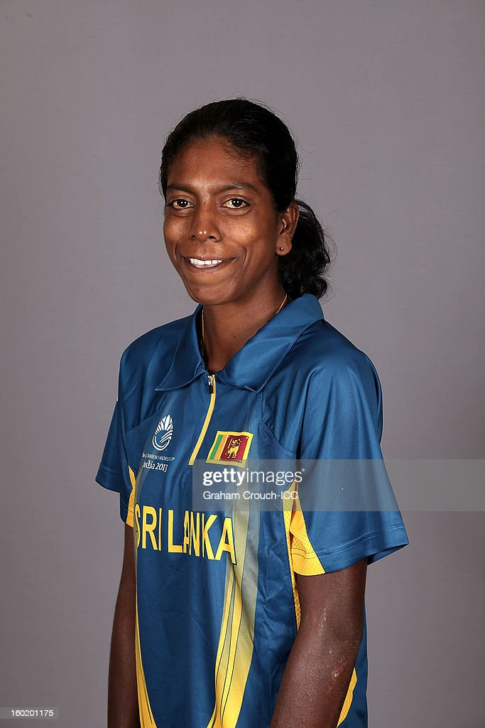 Yashoda Mendis of Sri Lanka poses at a portrait session ahead of the ICC Womens World Cup 2013 at the Taj Mahal Palace Hotel on January 27, 2013 in Mumbai,India.
