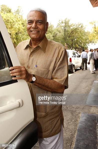 Yashwant Sinha after attending Parliament session on July 22 2009 in Delhi India