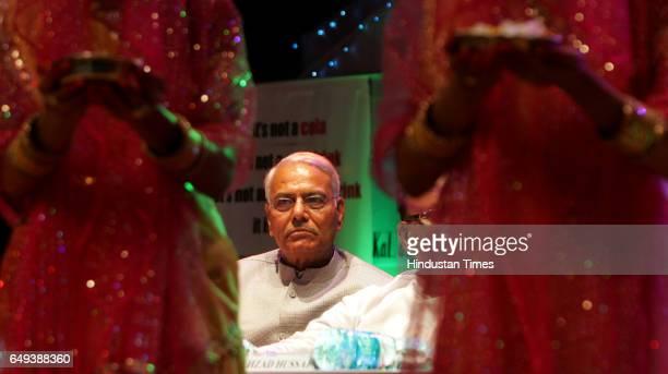 Yashwant Sinha attending the Bihar Day celebration at Shanmukhananda Hall at Matunga