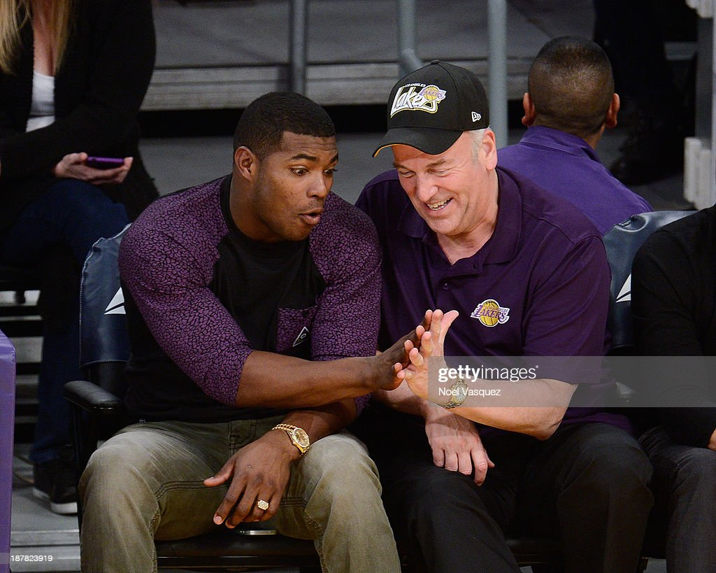 Yasiel Puig attends a basketball game between the New Orleans Pelicans and the Los Angeles Lakers at Staples Center on November 12, 2013 in Los Angeles, California.