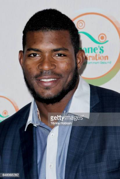 Yasiel Puig attends Shane's Inspiration 'A Night In Old Havana' Gala at Taglyan Complex on March 4 2017 in Los Angeles California
