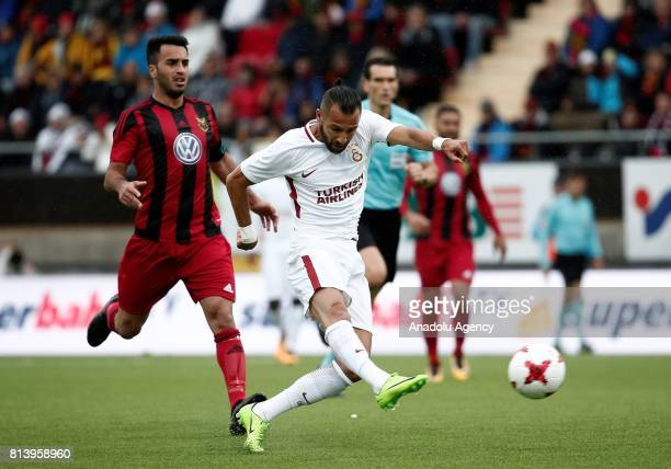 Yasin Oztekin of Galatasaray in action during the UEFA Europa League 2nd Qualifying Round soccer match between Galatasaray and Ostersund FK at...