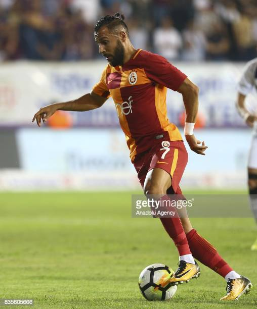Yasin Oztekin of Galatasaray in action during Turkish Super Lig soccer match between Osmanlispor and Galatasaray at the Osmanli Stadium in Ankara...