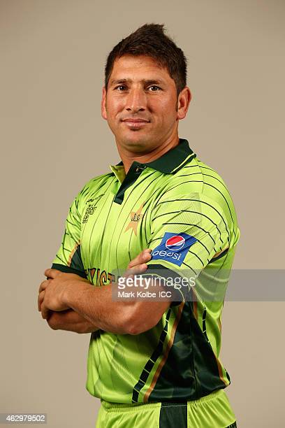 Yasir Shah poses during the Pakistan 2015 ICC Cricket World Cup Headshots Session at the Sheraton Hotel on February 8 2015 in Sydney Australia