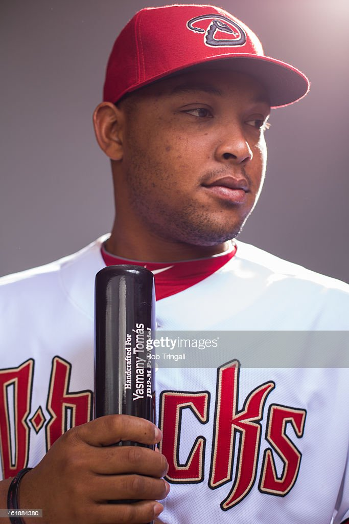 Yasmany Thomas #24 of the Arizona Diamondbacks poses during photo day at Salt River Fields at Talking Stick on March 1, 2015 in Scottsdale, Arizona.