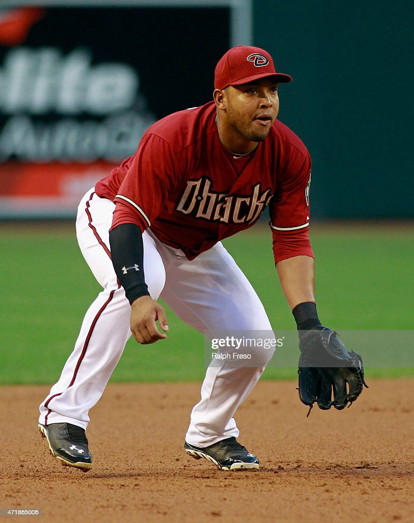 Yasmany Tomas #24 of the Arizona Diamondbacks in action during the first inning of a MLB game against the Colorado Rockies at Chase Field on April 29, 2015 in Phoenix, Arizona.