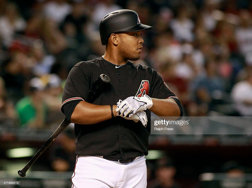 Yasmany Tomas #24 of the Arizona Diamondbacks prepares to bat against the Pittsburgh Pirates during the ninth inning of a MLB game at Chase Field on April 25, 2015 in Phoenix, Arizona.