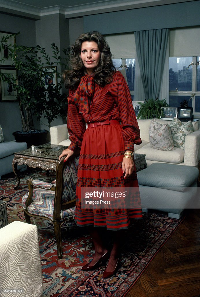 Yasmin Aga Khan At Home circa 1984 in New York City