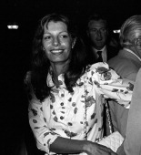 Yasmin Aga Khan attends Broadway for Kennedy Campaign Rally on August 10 1980 at the Shubert Theater in New York City