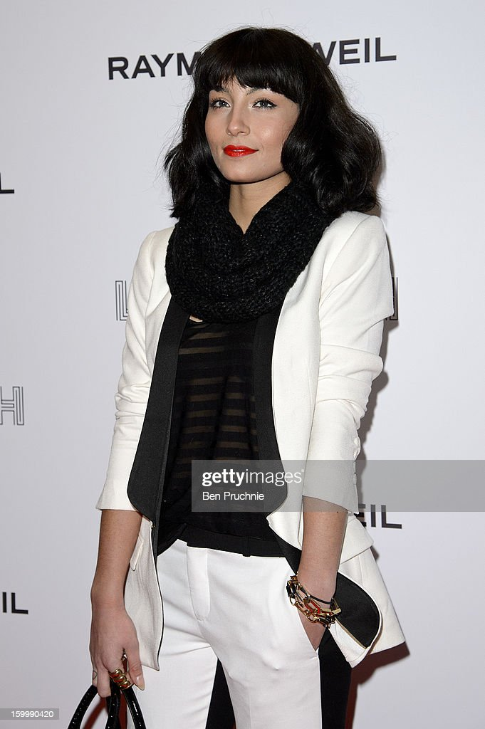 Yasmin attends the Raymond Weil pre-Brit Awards dinner and 20th anniversary celebration of War Child at The Mosaica on January 24, 2013 in London, England.