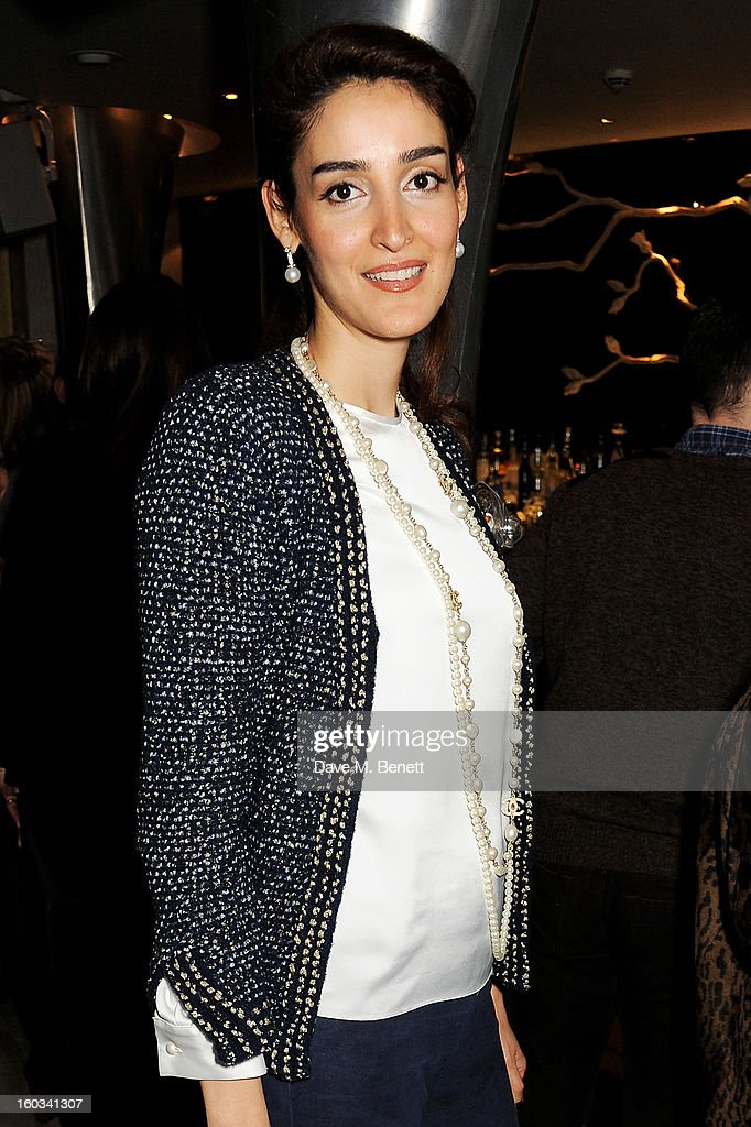 Yasmin Ghandehari attends the BFC/Vogue Designer Fashion Fund winners announcement at Nobu Berkeley on January 29, 2013 in London, England.