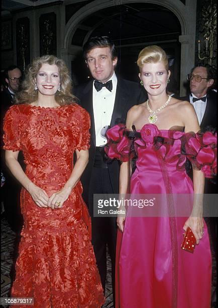 Yasmin Khan Ivana Trump and Donald Trump during 2nd Annual Manhattan Awards May 18 1988 at Plaza Hotel in New York City New York United States