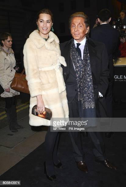 Yasmin La Bon and designer Valentino Garavani arriving for the premiere of A Single Man at the Curzon Mayfair London