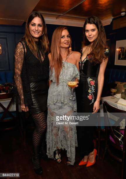 Yasmin Le Bon Alice McCall and Sarah Ann Macklin attend Alice McCall Fall 2017 Collection Launch Vip Dinner at Albert's on February 23 2017 in London...