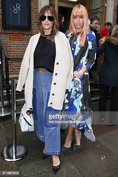 Yasmin Le Bon and Amber Le Bon at Roksandan AW16 on February 22 2016 in London England
