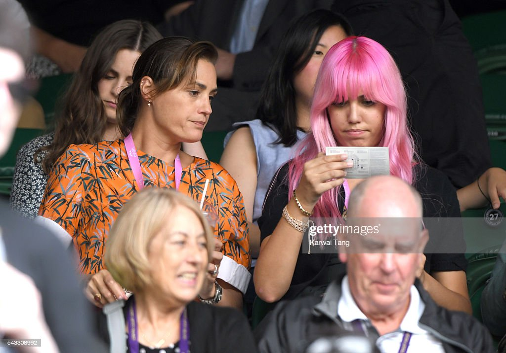 <a gi-track='captionPersonalityLinkClicked' href=/galleries/search?phrase=Yasmin+Le+Bon&family=editorial&specificpeople=161272 ng-click='$event.stopPropagation()'>Yasmin Le Bon</a> and <a gi-track='captionPersonalityLinkClicked' href=/galleries/search?phrase=Amber+Le+Bon&family=editorial&specificpeople=1103030 ng-click='$event.stopPropagation()'>Amber Le Bon</a> attend day one of the Wimbledon Tennis Championships at Wimbledon on June 27, 2016 in London, England.