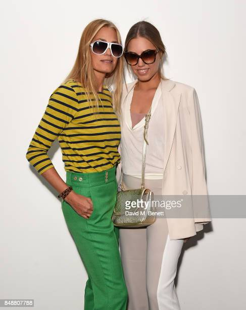 Yasmin Le Bon and Amber Le Bon attend the Antonio Berardi catwalk show during London Fashion Week at BFC Presentation Space on September 18 2017 in...