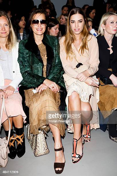 Yasmin Le Bon and Amber Le Bon attend the David Koma show during London Fashion Week Fall/Winter 2015/16 on February 22 2015 in London England