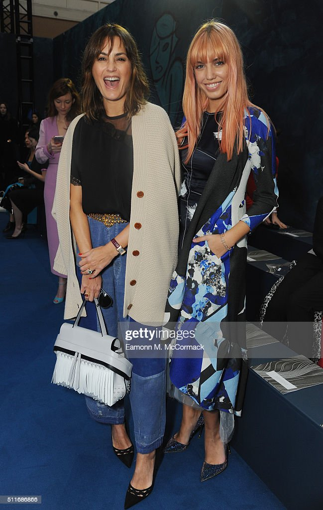 Yasmin Le Bon and Amber Le Bon attend the Roksanda show during London Fashion Week Autumn/Winter 2016/17 at on February 22, 2016 in London, England.