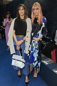 Yasmin Le Bon and Amber Le Bon attend the Roksanda show during London Fashion Week Autumn/Winter 2016/17 at on February 22 2016 in London England
