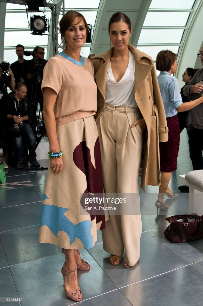 Yasmin Le Bon and Amber Le Bon attends the Antonio Berardi show during London Fashion Week Spring Summer 2015 at on September 15 2014 in London...