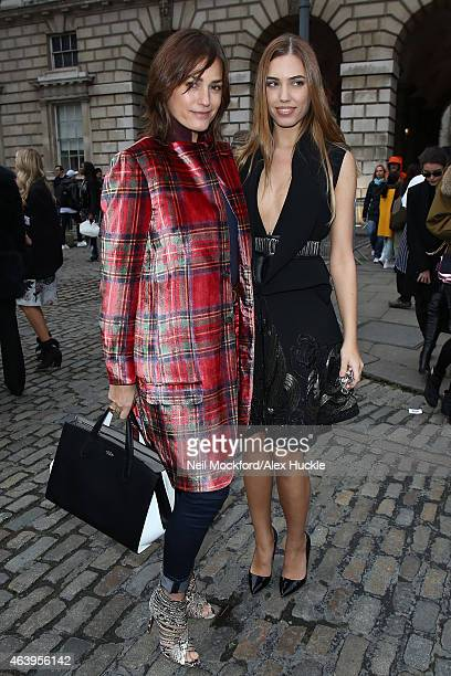 Yasmin Le Bon and Amber Le Bon seen arriving for JeanPierre Braganza at Somerset House on February 20 2015 in London England