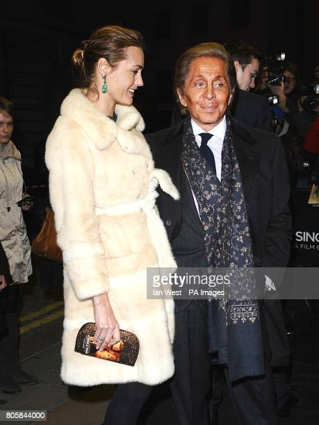Yasmin Le Bon and designer Valentino Garavani arriving for the premiere of A Single Man at the Curzon Mayfair London