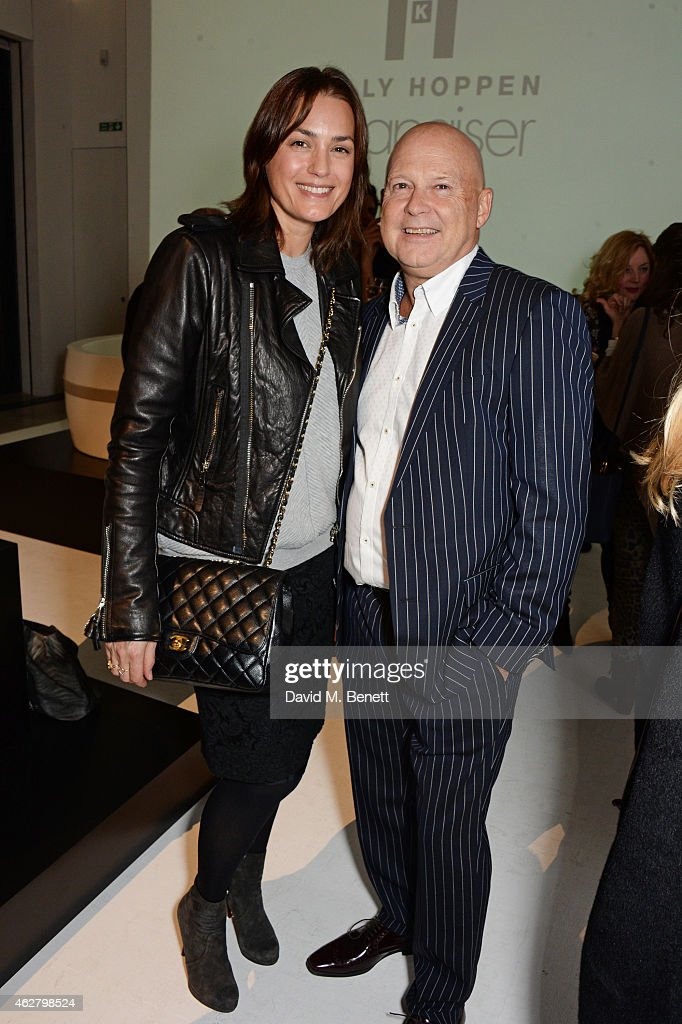 Yasmin Le Bon and Greg Johnson attend the global unveiling of Kelly Hoppen's new bathware collection with Apaiser at IRIS Studios on February 5 2015...