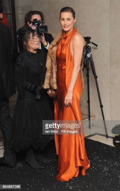 Yasmin Le Bon and Hilary Alexander arrives for the 2008 British Fashion Awards at the Royal Horticultural Hall 80 Vincent Square London