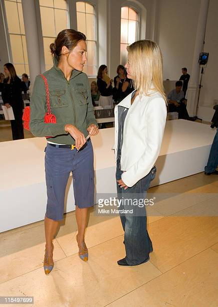 Yasmin Le Bon and Lady Helen Taylor front row at Allegra Hicks Spring/Summer 2006