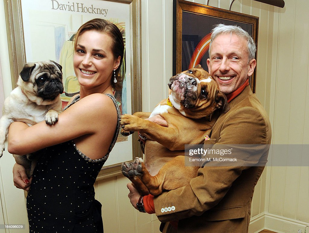 Yasmin Le Bon and Patrick Cox Join VIP (very important pooches)of the furry variety took to Mayfair members' club George on Tuesday 19th March in aid of Dogs Trust to launch a dog friendly menu. Yasmin Le Bon, Patrick Cox and Tuuli Shipster and their four-legged friends joined members to celebrate the new dishes in aid of the UK's largest dog welfare charity, Dogs Trust at The George Club on March 19, 2013 in London, England.