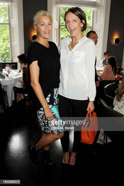 Yasmin Le Bon and Saffron Aldridge attend the annual Tatler Great Girls Lunch in aid of Cancer Research UK at Mortons on October 7 2013 in London...