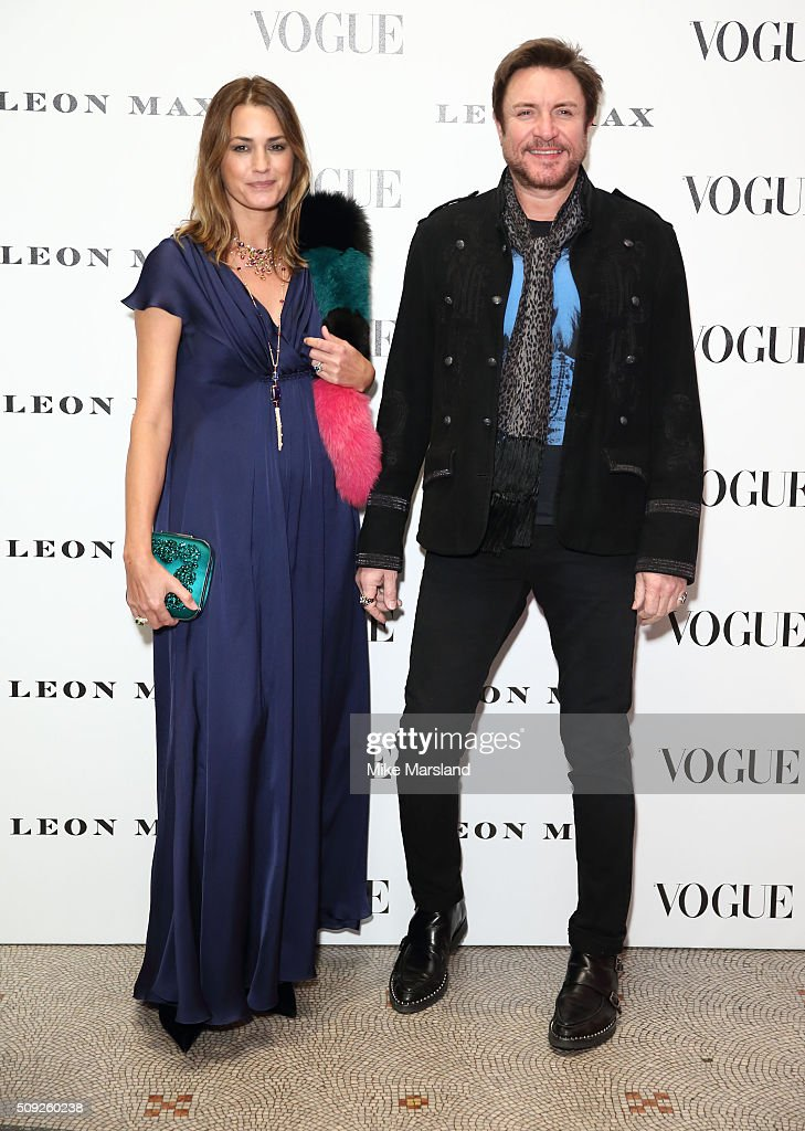 Yasmin Le Bon and Simon Le Bon attend at Vogue 100: A Century Of Style atNational Portrait Gallery on February 9, 2016 in London, England.