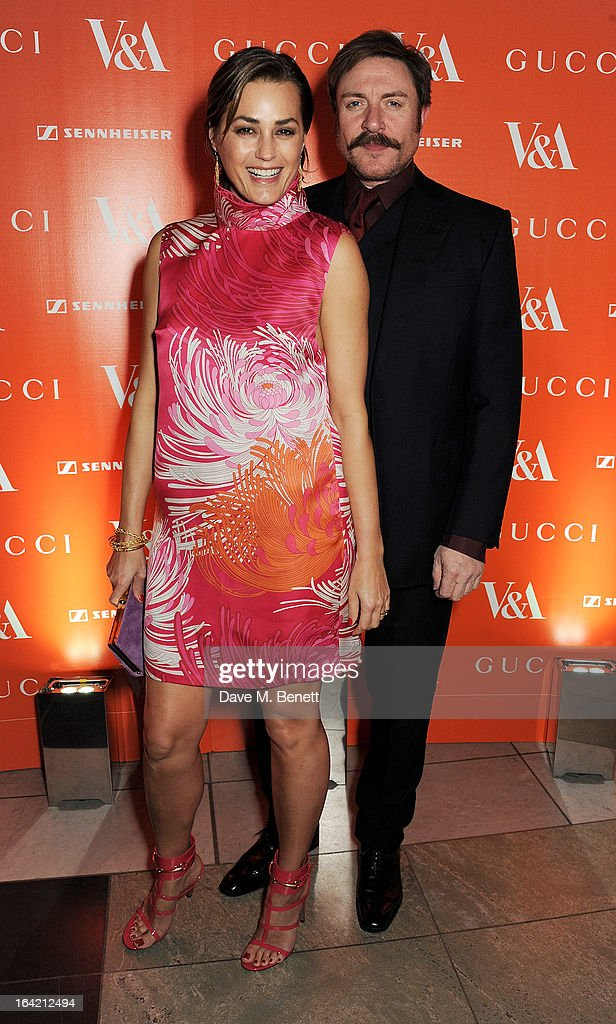 Yasmin Le Bon (L) and Simon Le Bon attend the dinner to celebrate The David Bowie Is exhibition in partnership with Gucci and Sennheiser at the Victoria and Albert Museum on March 19, 2013 in London, England.