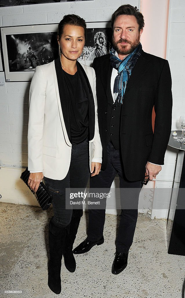 Yasmin Le Bon and Simon Le Bon attend the launch of new book 'Duran Duran Denis O'Regan Careless Memories' at 15 Fouberts Place on December 5 2013 in...