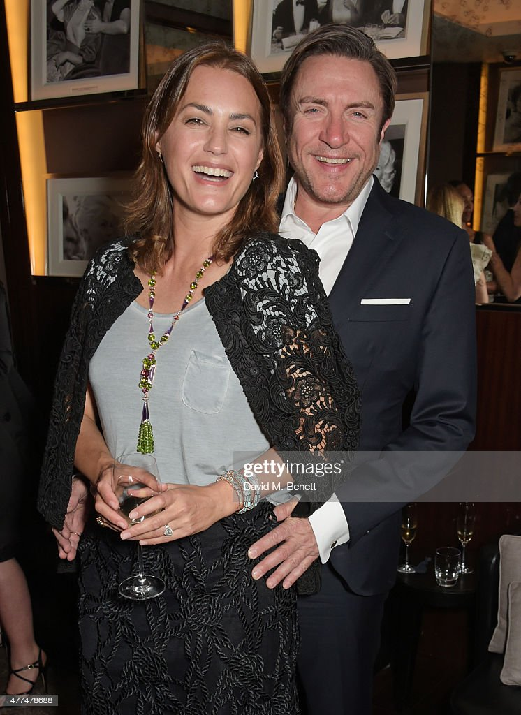 Yasmin Le Bon and Simon Le Bon attend the Red Magazine dinner in honour of Yasmin Le Bon at Bulgari Hotel on June 17 2015 in London England