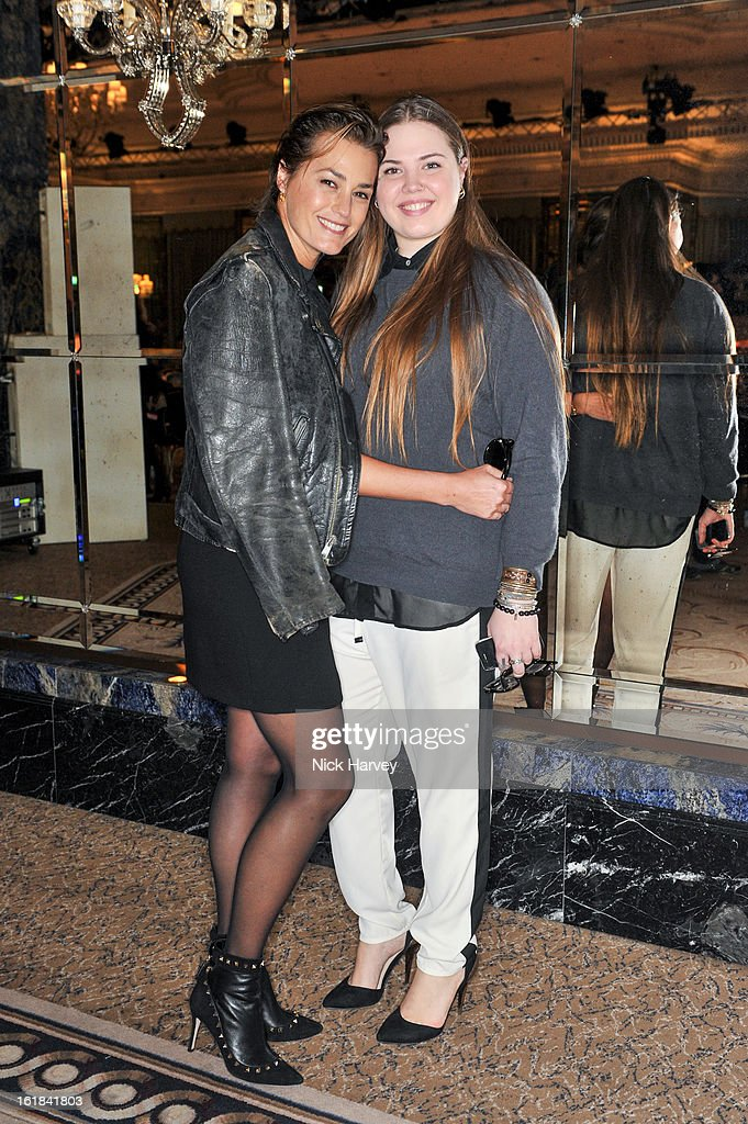 <a gi-track='captionPersonalityLinkClicked' href=/galleries/search?phrase=Yasmin+Le+Bon&family=editorial&specificpeople=161272 ng-click='$event.stopPropagation()'>Yasmin Le Bon</a> and Tallulah Pine Le Bon (R) attends the Temperley London show during London Fashion Week Fall/Winter 2013/14 at the Dorchester Hotel on February 17, 2013 in London, England.