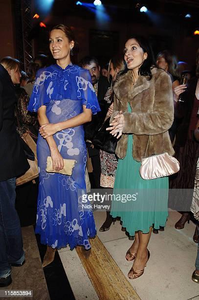 Yasmin Le Bon and Yasmin Mills during 2005 Lancome Colour Design Awards Inside at Freemason's Hall in London Great Britain
