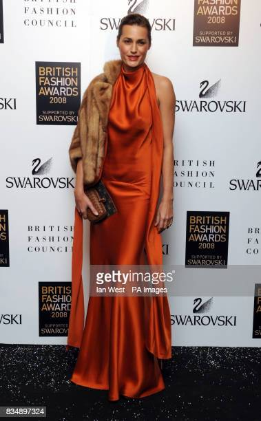Yasmin Le Bon arrives for the 2008 British Fashion Awards at the Royal Horticultural Hall 80 Vincent Square London
