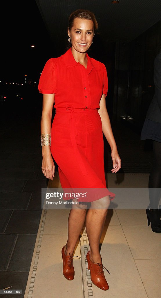 Yasmin Le Bon arrives for the launch party of YLB for Wallis on September 9, 2009 in London, England.